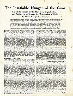 World War 1, Insatiable Hunger of the Guns, 2 Pages