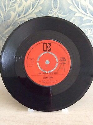"""Clear light. Red Roses7"""" 45rpm"""