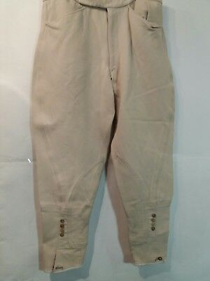 "Adult 30""w 24""l Men Cream Harry Hall Adjustible Hunting Riding Breeches -  Uk 14"