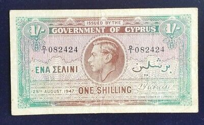 Cyprus 1Shilling 1947 Extremely Rare