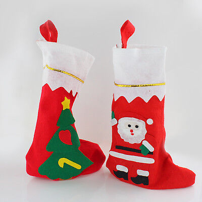 Wholesale Christmas Gifts Plush Bags Socks Stocking Santa Claus Tree Ornaments