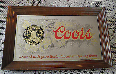 1980 Adolph  Coors Co. Coors Beer Mirror