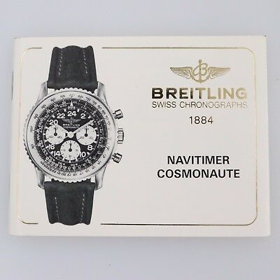 Breitling Navitimer Cosmonaut Instruction Manual Booklet