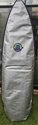 Vintage Surfboard and cover. Retro