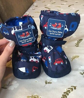 Jojo Maman Bebe Fleece Lined Booties 12-18 Months
