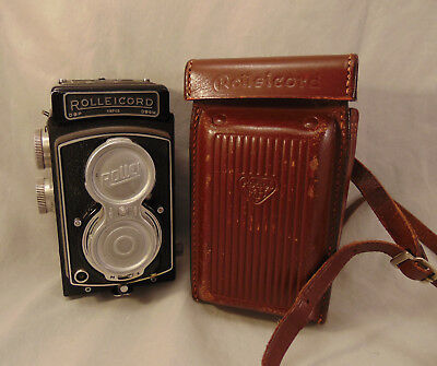 Rolleicord Iv Tlr Twin Lens Camera W/ Case