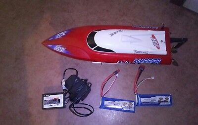 offshore rc warrior lite complet + 2 accus lipo + chargeur