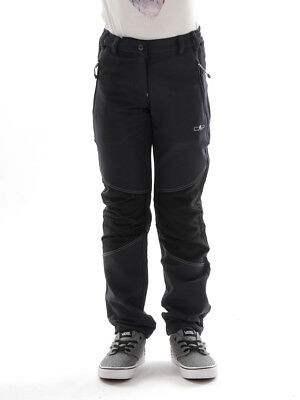 CMP Soft Shell Trousers Functional Pants Black Stretch UV Protection dryfunction