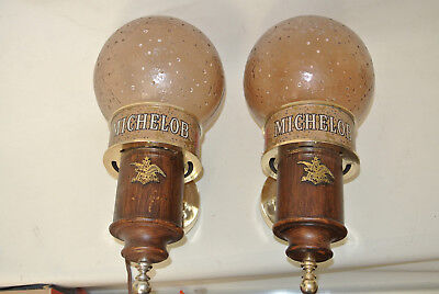 Pair of Vintage Michelob Beer Light Wall Sconces