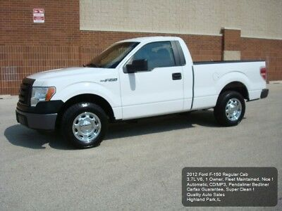 2012 Ford F-150 XL SHORT BED 2012 FORD F-150 V6 F150 3.7L V6 CD/MP3 1 OWNER FLEET MAINTAINED SUPER CLEAN SB