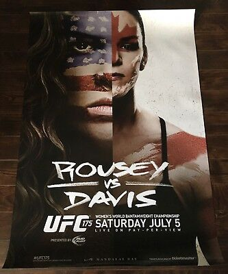 UFC 175 Limited Edition Event Poster, Ronda Rousey, Alexis Davis, MMA