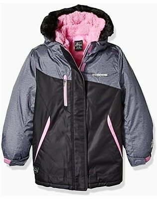 ZEROXPOSUR Girl's Boa 3 in 1 Systems Jacket Coat BLACK PINK X-Large XL 16 NEW