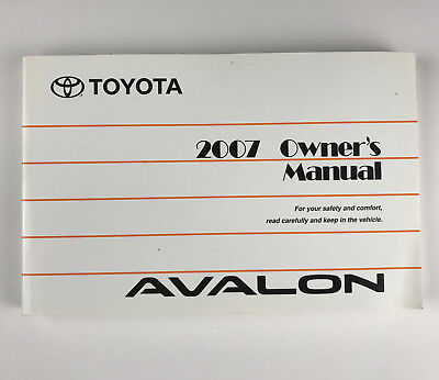 GENUINE OEM Factory 2007 TOYOTA AVALON OWNER'S MANUAL GUIDE BOOK