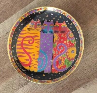 Laurel Burch Cat 🐱 Plate Franklin Mint Vintage 1990s Fanciful Felines