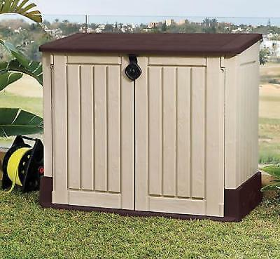 Large Outdoor Storage Box Garden Patio Shed Pool Yard Plastic Tools