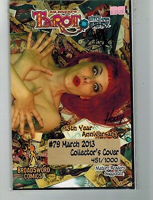 Tarot Witch Of The Black Rose #79 13Th Anniversary Photo Variant Signed Comic Mj