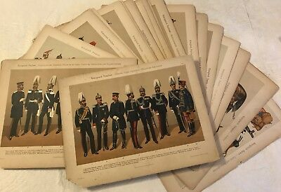 1930's Prussian Army Uniform 45 Original Color Litho Plates Toussaint Leipzig