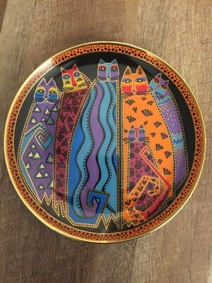 Laurel Burch Cat 🐱 Plate Franklin Mint Vintage 1990s Santa Fe Felines