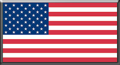 USA - Flag! - Magnetic Car Sign - 5in X 2.6in