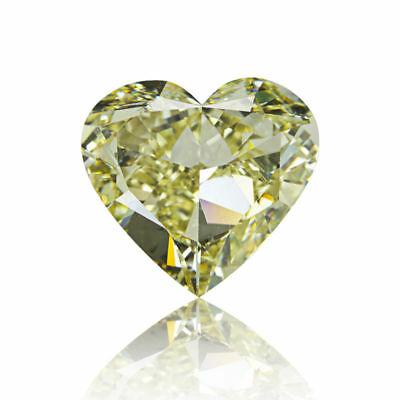 Yellow Diamond Natural 3.09 Ct Fancy Color GIA Certified Heart Cut VS1 Loose