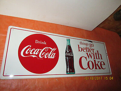 Drink Coca Cola 1950's Things Go Better With Coke Sign