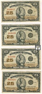 1923Set of A-M Shinplasters Signed Campbell/Clark Notes Cat#DC-24d Fine Cat $150