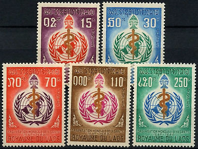 Laos 1968 SG#237-241, 20th Anniv Of WHO MNH Set #D58931