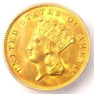 1878 Three Dollar Indian Gold Coin $3 - Certified ICG MS60 Details (UNC MS)!