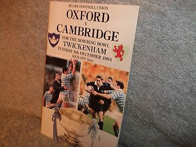 Oxford V Cambridge 6-12-1994 Rugby Union Programme