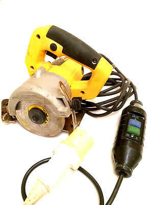 Professional DeWalt DWC410 110V Hand Held Wet Dry Circular Tile Cutter Saws Tool