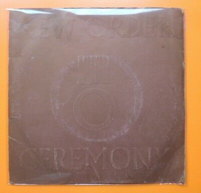"New Order - Ceremony - Fac 33 1981 Factory 7"" single Joy Division"