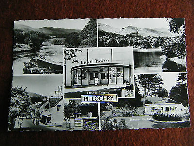 Pitlochry Perth & Kinross Scotland Postmark 1962 Multiview Festival Theatre Etc