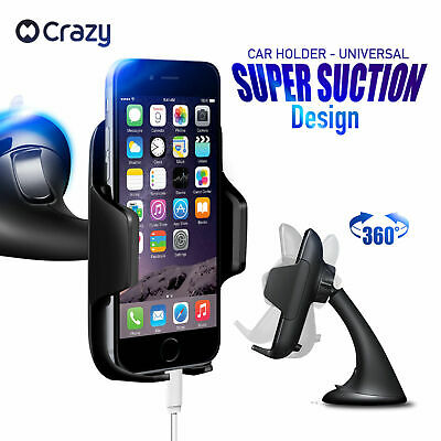 Crazy Universal Car Mount Holder Phone GPS Cradle Stand for iPhone Galaxy Sony
