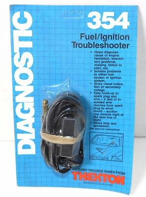 Thexton 354 Fuel Injector Trouble Shooter Nos