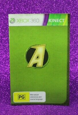 Instruction Booklet/Manual For Kinect Adventures Xbox 360 (No Game) 📚 Oz Seller