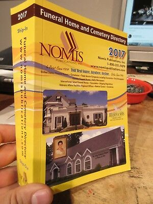 2017 Funeral Home Cemetery Directory NOMIS Yellow Book Cremation Body Clean Up +