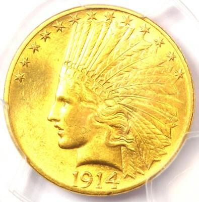 1914 Indian Gold Eagle ($10 Coin) - PCGS MS64 - Rare in MS64 - $3,850 Value!