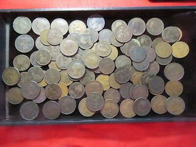 Complete Date Run 1850 To 1920 Britain Large Pennies With 1869