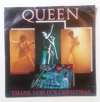 "Queen - Thank God It's Christmas - 3 Track 7"" P/S EP EMI 1984 VG Condition.."