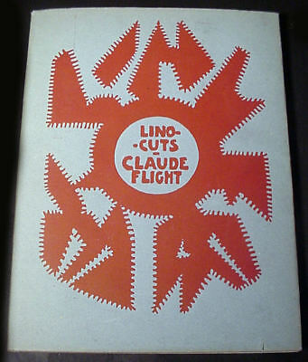 """1948 REVISED """"LINO-CUTS"""" by CLAUDE FLIGHT, VERY WELL KEPT, B&W, COLOR w/ JACKET"""