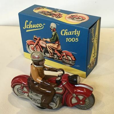 Vintage Rare Tin toy Motorcycle made by Schusho Spring spring movable F/S