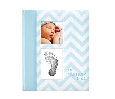 Pearhead - My First  Memory Baby Book -  Chevron Blue