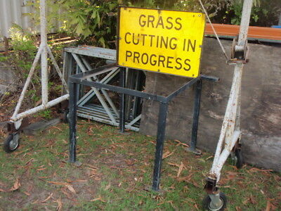 Grass mowing cutting warning signs ute tray