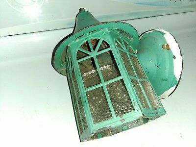 Gothic Tudor Arts & Crafts Witch's Hat Cottage Porch Light Mission Fixture Sconc