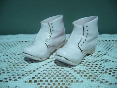 Adderley Bone China Miniature Shoes / Boots - Vintage - Very Good Cond