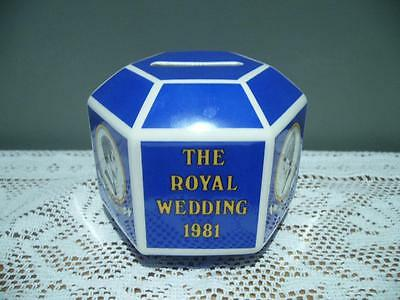 Wedgwood China Rare Charles & Diana Collectable Wedding Money Box - Vintage Vgc