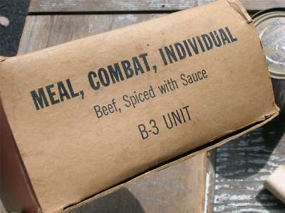 Vintage Vietnam Era MRE~Military Meal, Combat~Individual~B3 Unit~In Box~No Meat
