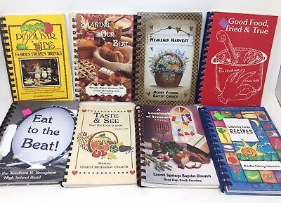 BIG mixed lot 20 fundraiser church community spiral COOKBOOKS - vintage+newer