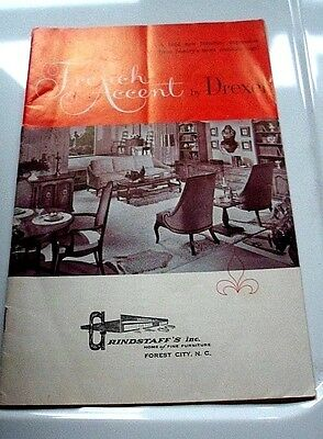 "1962 Drexel French Accent Vintage Furniture Catalog 17 page 6"" x 9"""