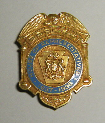 Vintage 1937-1938 House of Representatives Badge RARE